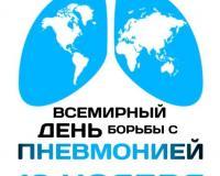 12 ноября - Всемирный день борьбы с пневмонией